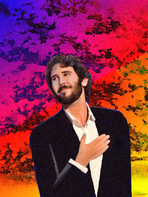 Merry Christmas Josh Groban Art Print by Angela A Stanton