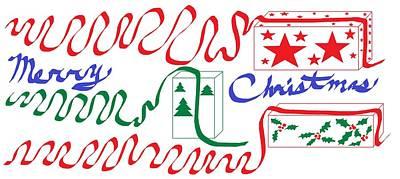 Digital Art - Merry Christmas Joy by Linda Velasquez