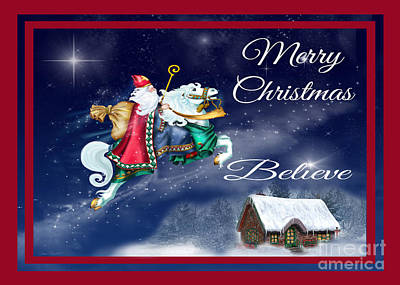 Believe Digital Art - Merry Christmas-jp3123 by Jean Plout