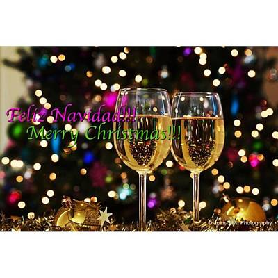 Wine Wall Art - Photograph - Merry Christmas! #juansilvaphotos by Juan Silva