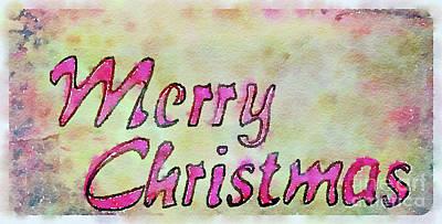 Painting - Merry Christmas  by Kerri Farley
