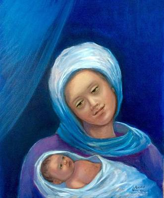 Painting - Merry Christmas by Laila Awad Jamaleldin