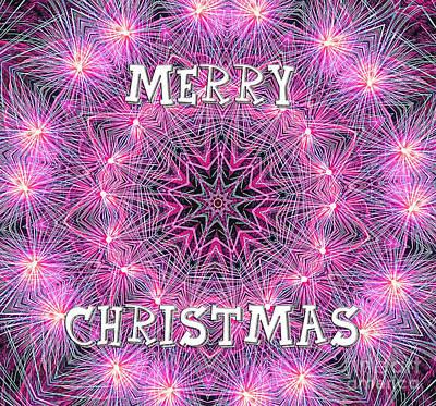 Photograph - Merry Christmas Mandala By Kaye Menner by Kaye Menner