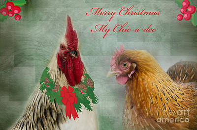 Photograph - Merry Christmas My Chic-a-dee by Donna Brown