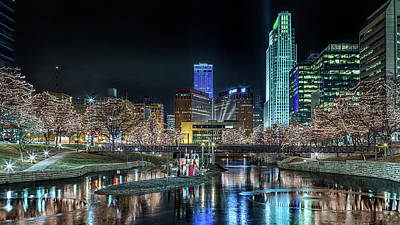 Photograph - Merry Christmas Omaha by Susan Rissi Tregoning