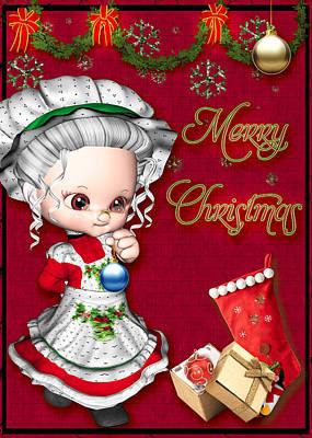 Mixed Media - Merry Christmas by Paula Ayers