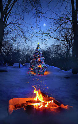 Print featuring the photograph Merry Christmas by Phil Koch
