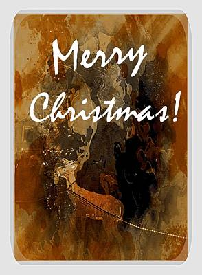 Photograph - Merry Christmas Reindeer 2 by Bob Pardue