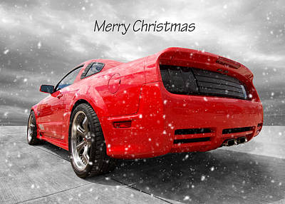 Classic Ford Mustang Photograph - Merry Christmas Saleen Mustang by Gill Billington