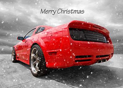 Photograph - Merry Christmas Saleen Mustang by Gill Billington