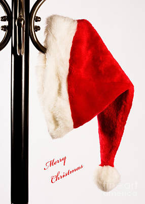 Photograph - Merry Christmas Santa Hat by Diane Macdonald