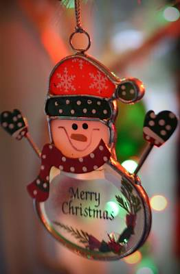 Photograph - Merry Christmas Snowman by Mandy Shupp
