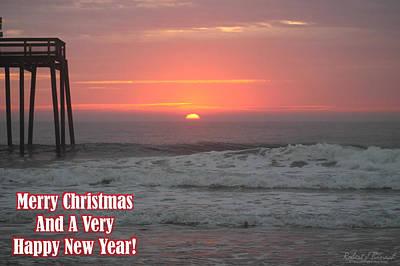 Merry Christmas Sunrise  Art Print
