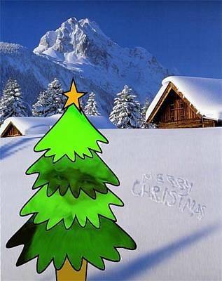 Digital Art - Merry Christmas by Gyorgy Szilagyi