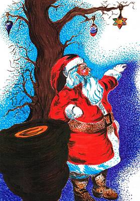 Santaclause Drawing - Merry Christmas  by Teresa White