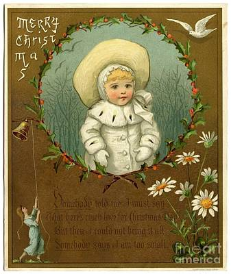 Painting - Merry Christmas Vintage by R Muirhead Art