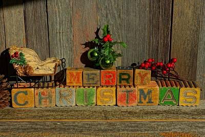 Photograph - Merry Christmas W/sleigh  by Steven Clipperton