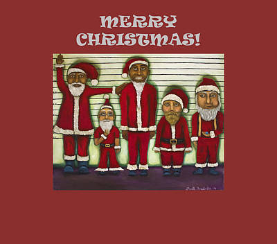 Jail Painting - Merry Christmas With Line Up by Leah Saulnier The Painting Maniac