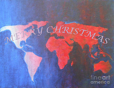 Mixed Media - Merry Christmas World 2 by Jane See