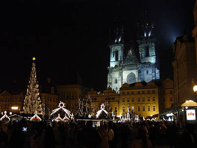 Photograph - Merry Christms From Central Prague by Femina Photo Art By Maggie