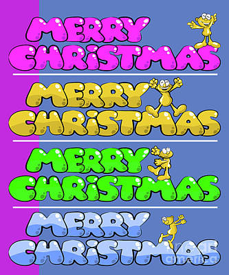 Merry Crhristmas Funny Poster Or Greetincard Art Print