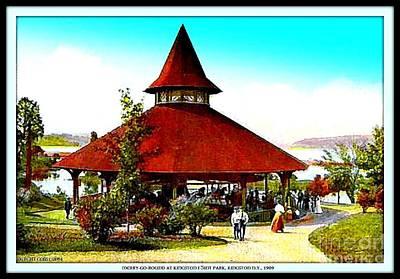 Merry-go-round At Kingston Point Park, 1909 Art Print