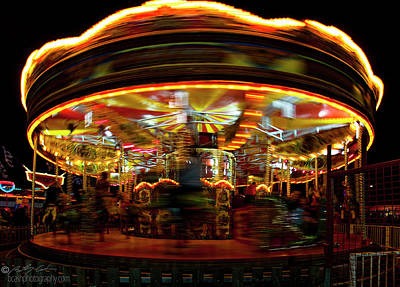Merry-go-round Art Print by Beverly Cash