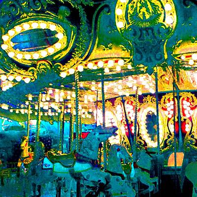 Photograph - Merry Go Round Blues by Marianne Dow