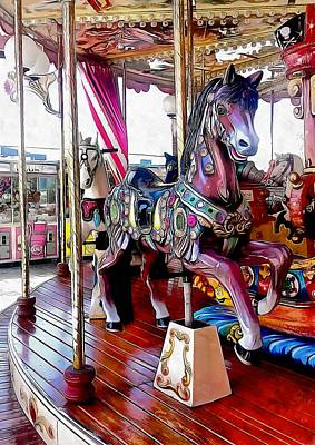 Photograph - Merry Go Round Horses by Dorothy Berry-Lound