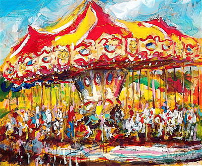 Painting - Merry-go-round by Les Leffingwell
