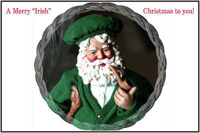 Digital Art - Merry Irish Santa by Ellen Barron O'Reilly