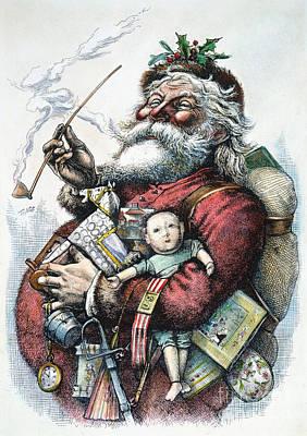 Merry Old Santa Claus Art Print by Granger