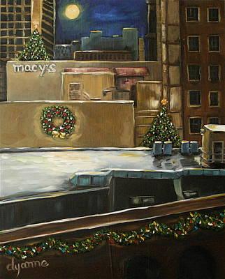 Merry Rooftops Art Print by Dyanne Parker