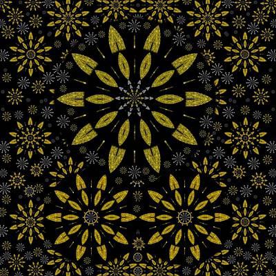 Merry Snow Stars Art Print by Pepita Selles