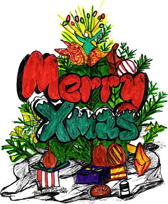 Mixed Media - Merry Xmas by Michelle Gilmore