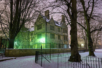 Photograph - Merton College Oxford In Winter by Tim Gainey