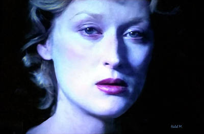Photograph - Meryl Streep Sad Eyes by Haleh Mahbod