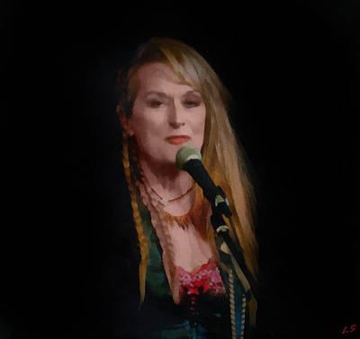 Painting - Meryl Streep by Sergey Lukashin