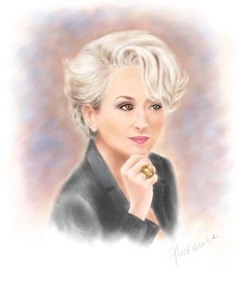Meryl Streep The Devil Wears Prada Original by Florence Lee