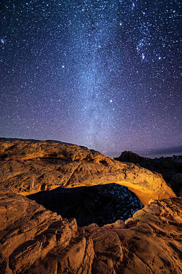 Photograph - Mesa Arch And Milky Way by Whit Richardson