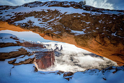 Arch Rock Photograph - Mesa Arch In The Snow by James Udall