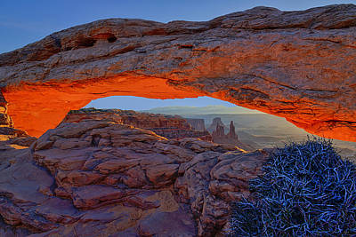 Arches National Park Photograph - Mesa Arch Morning by Greg Norrell