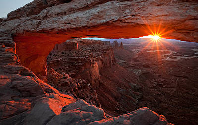 Mesa Arch Sunrise Print by Barbara Read