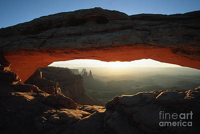 Photograph - Mesa Arch Sunrise by Stan and Anne Foster