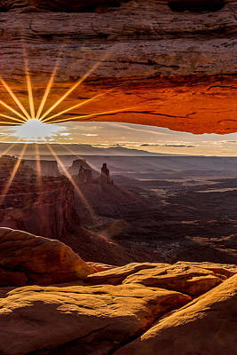 Photograph - Mesa Arch Triptych Panel 2/3  by Ryan Smith