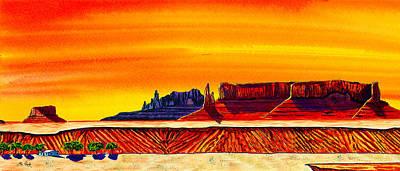 Mesa At Rough Rock Art Print by Clark Sheppard