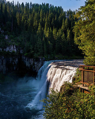 Photograph - Mesa Falls Idaho by TL Mair