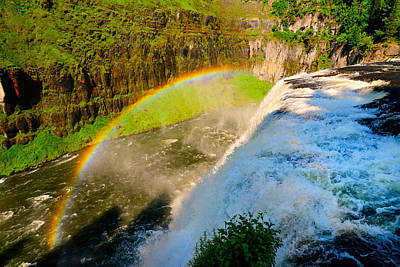 Photograph - Mesa Falls Rainbow by Greg Norrell