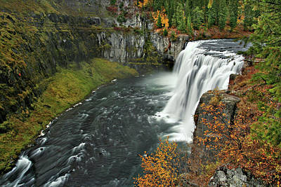 Photograph - Mesa Falls by Wesley Aston