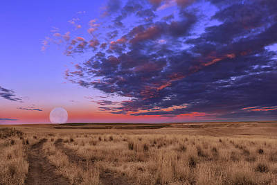 Photograph - Mesa Moon by Kathleen Bishop